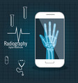 x ray digital medical healthcare isolated vector image vector image