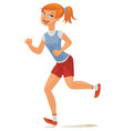 young girl jogging vector image vector image
