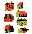 cute with doodle houses architecture vector image