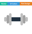 Flat design icon of Dumbbell vector image
