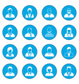 16 characters icon blue vector image vector image
