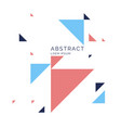 abstract geometric background with triangles in a vector image vector image