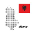 albania country with polka dots vector image