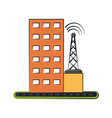 antenna telecommunications icon image vector image