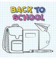 back to school vector image vector image