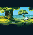 background landscape with field and forest vector image