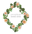 beautiful floral a rhombus frame wreath from vector image vector image