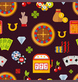 casino game poker gambler symbols seamless pattern vector image