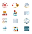 Computer Networking Icons vector image