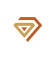 diamond abstract line vintage logo vector image vector image