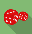 Dice icon Modern Flat style with a long shadow vector image vector image