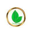 eco friendly website icon vector image vector image