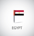 egypt flag pin vector image vector image