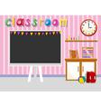 Empty classroom with blackboard vector image vector image