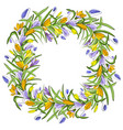 flower spring wreath isolated on white background vector image