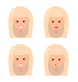 four female faces colorful vector image vector image