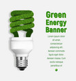green energy concept background realistic style vector image