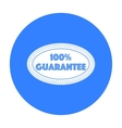Guarantee label icon in black style isolated on vector image vector image