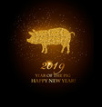 happy new year 2019 background year pig vector image