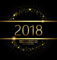 happy new year background with glowing lights vector image