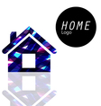 Home logo transparent colors overlap to feel vector image vector image