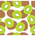 Kiwi fruit seamless background vector image vector image