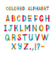 latin font or decorative english alphabet made of vector image vector image