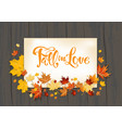 lettering and fall leaves on dark vector image
