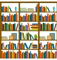 Library bookstore - Seamless pattern with books vector image