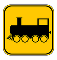 Locomotive button vector image vector image