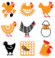 logo icons chicken vector image
