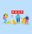 mail delivery service postage customers at post vector image