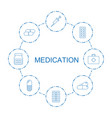 medication icons vector image vector image