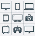 modern digital devices icons set vector image