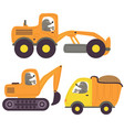 mole and working transport vector image vector image