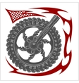Moto Logo Symbol inside wheel and tribal vector image