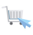 online shopping market vector image vector image