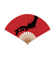 oriental japan fan isolated on white background vector image vector image