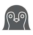 penguin glyph icon animal and zoo bird sign vector image vector image