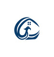 phoenix home logo design vector image vector image