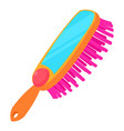 pink comb brush icon cartoon style vector image vector image