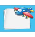 plane paper copyspace