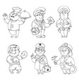 professions coloring book vector image
