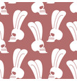rabbit skull pattern white bunny with skeleton vector image vector image