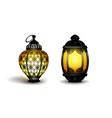 ramadan kareem realistic 3d lanterns vector image vector image