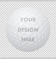 realistic golf ball icon closeup isolated vector image vector image