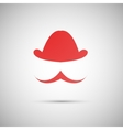 red hat on a white background vector image vector image