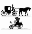 retro transport silhouettes vector image vector image