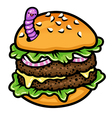 sandwich worm vector image