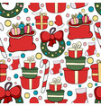 seamless new year hand drawn pattern new years de vector image